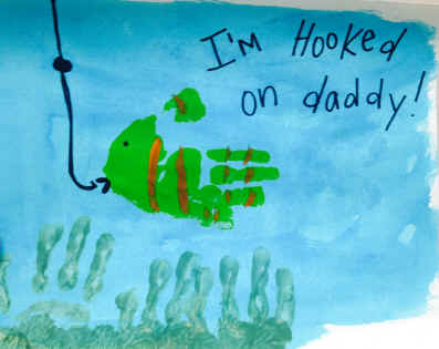 Fathers Day Craft Fishing I'm Hooked on Daddy