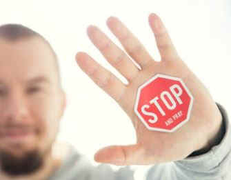 Stop and pray-five finger prayer