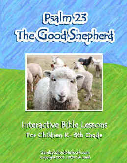 Good Shepherd Psalm 23 Bible Lessons