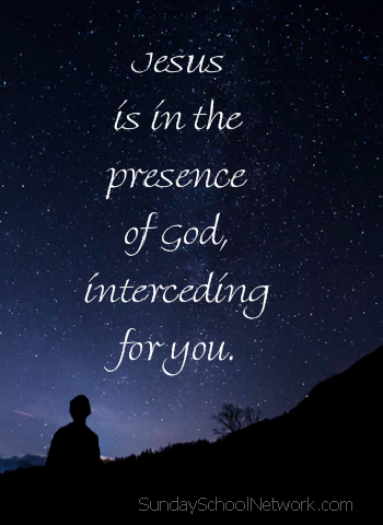 Jesus intercedes for his children in God's presence