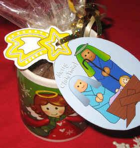 Cake in a Mug Nativity Ornament