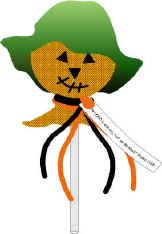 Halloween tract scarecrow
