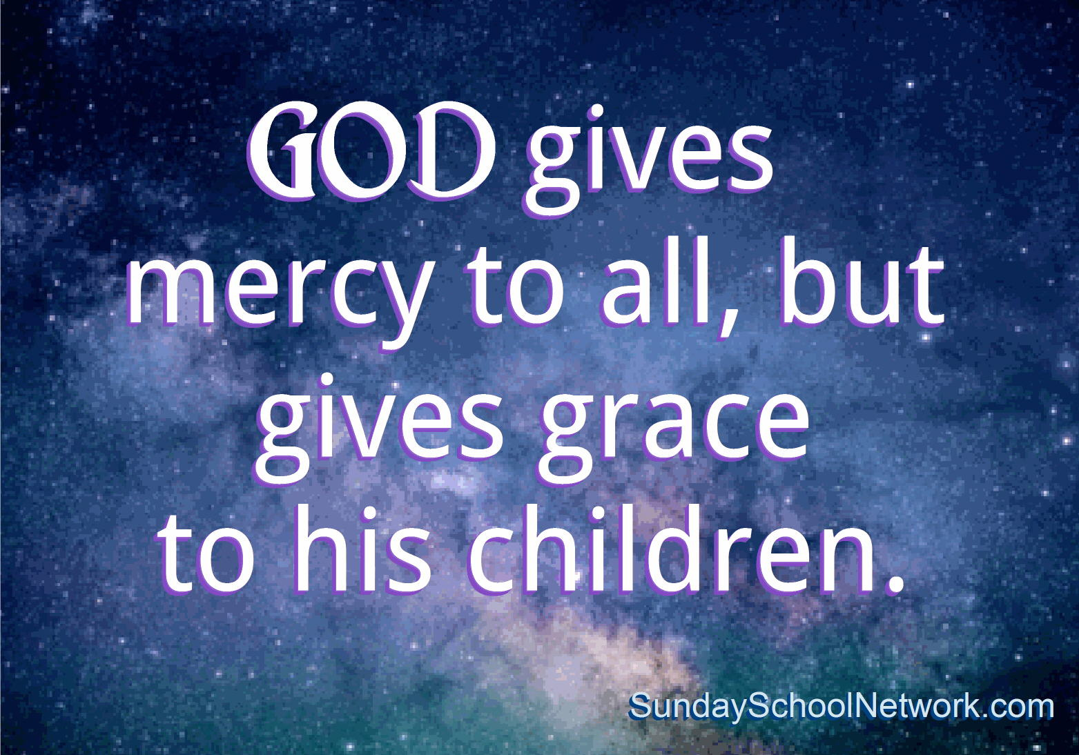 God gives grace to his children