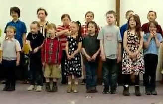 children sing the Beatitudes song