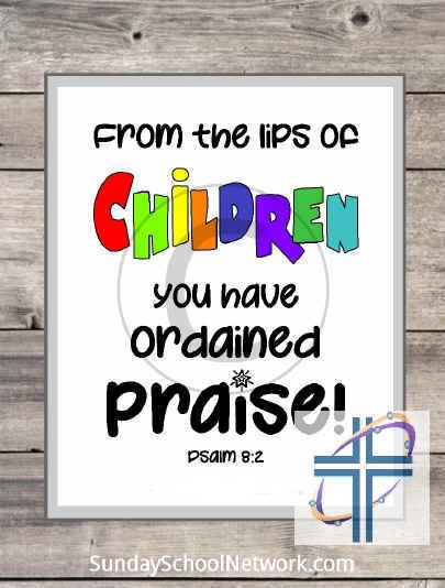 Wall Art Children's Praise Poster