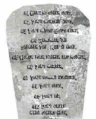 Ten Commandments Tablet